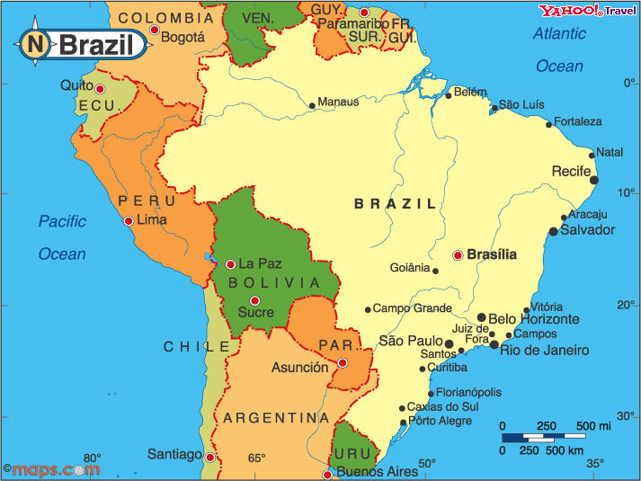 South America Brazil Ridgway Research - Brazil map
